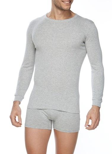 SVM Likralı Uzun Kol T-Shirt Beyaz